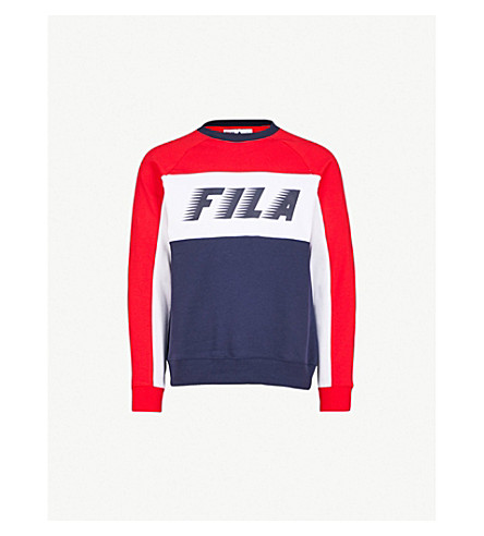 FILA Logo-print cotton-blend sweatshirt (Peacoat