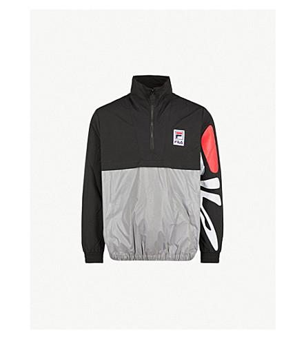 FILA Mindblower 瑞斯标志-打印外壳夹克 (黑色 + 银色
