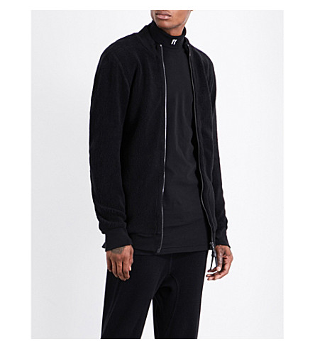 11 BY BORIS BIDJAN SABERI Stand-collar cotton-blend jacket (Black+dye