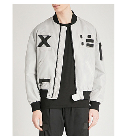 LETASCA Oversized shell bomber jacket (Grey