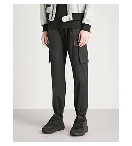 LETASCA Skinny twill cargo trousers (Black