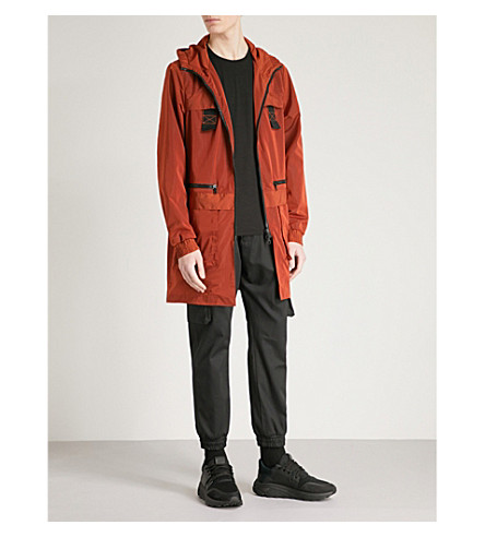LETASCA Parachute shell parka coat (Orange