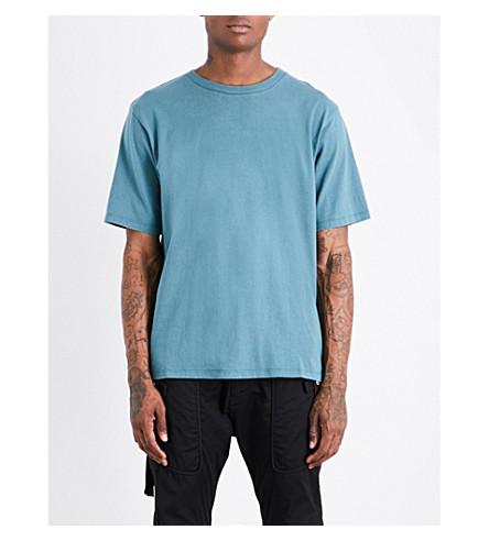 UNRAVEL Vintage cotton-jersey T-shirt (Petrol