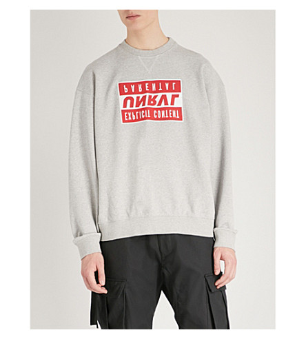 UNRAVEL Explicit cotton-jersey sweatshirt (Medium+heather