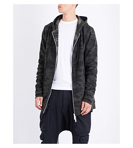 UNRAVEL Oversized camouflage cotton-jersey hoody (All+over+no+colour