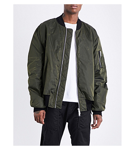 UNRAVEL Waxed shell bomber jacket (Army