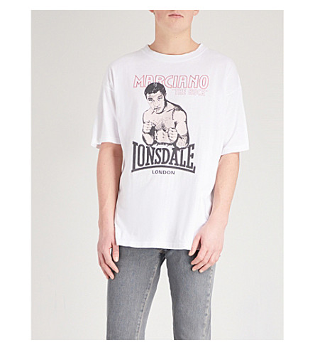 NOT APPLICABLE Lamyland Rocky Marciano cotton-jersey T-shirt (White