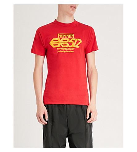不适用法拉利 Berlinetta 拳击手棉球衣 t恤衫 (红色