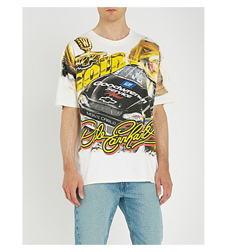 NOT APPLICABLE Dale Earnhardt cotton-jersey T-shirt (White