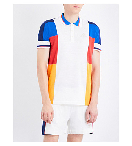 ADIDAS X PHARRELL adidas x Pharrell Williams knitted polo shirt (Multicolour