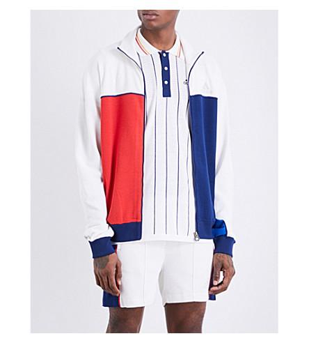ADIDAS X PHARRELL adidas x Pharrell Williams Colour-block knitted track jacket (Multicolour