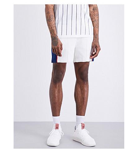 ADIDAS X PHARRELL adidas x Pharrell Williams Colour block knitted tennis shorts (Chal+wht+dblu+scarlet