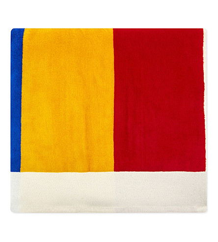 ADIDAS X PHARRELL Printed cotton beach towel (Chal+wht+dblu+scarlet