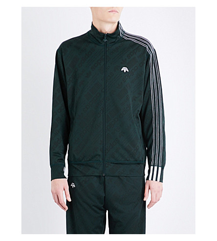 ADIDAS X ALEXANDER WANG Zip-up jacquard track jacket (Green