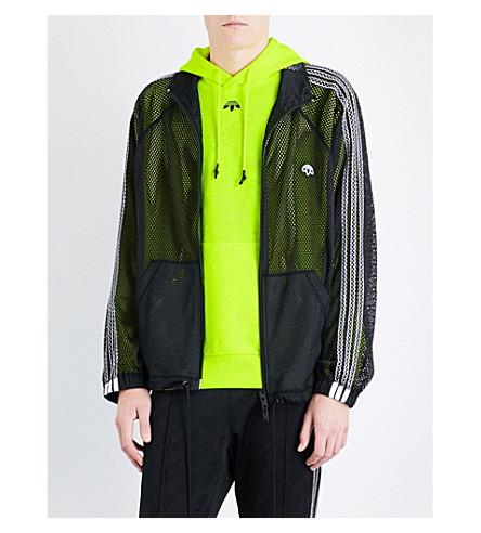 ADIDAS X ALEXANDER WANG 3-stripes-detail sports mesh jacket (Black