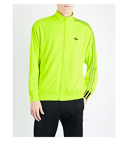 ADIDAS X ALEXANDER WANG Zip-up jacquard track jacket (Yellow