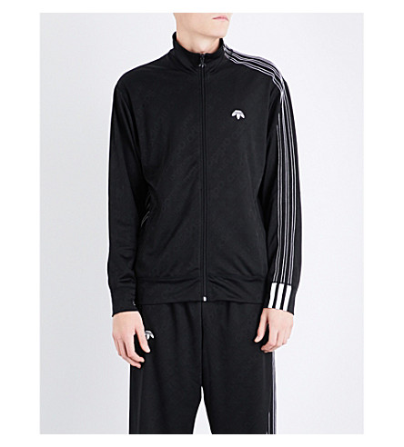 ADIDAS X ALEXANDER WANG Zip-up jacquard track jacket (Black