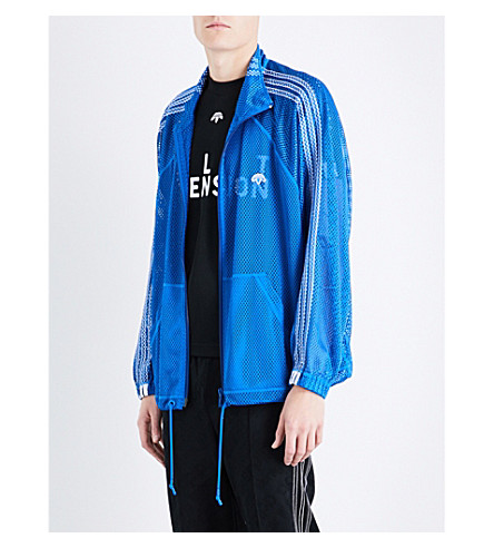 ADIDAS X ALEXANDER WANG 3-stripes-detail mesh jacket (Bluebird