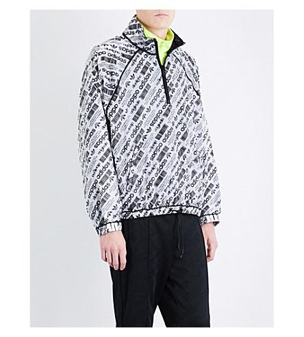 ADIDAS X ALEXANDER WANG Reversible shell windbreaker jacket (White+black