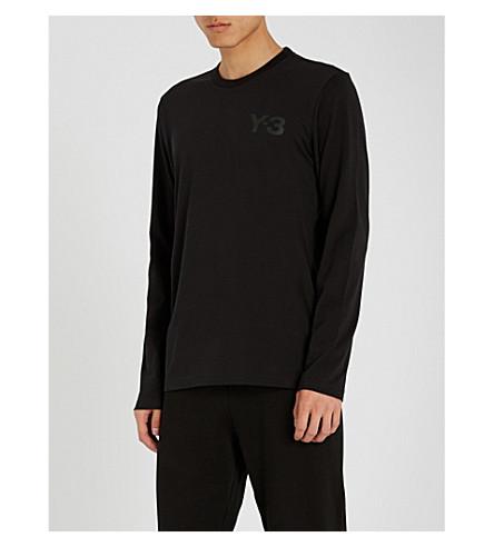 Y3 Logo-print cotton-jersey T-shirt (Black