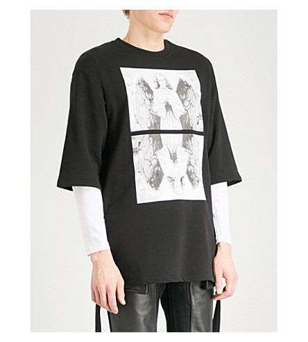 HACULLA Pray for Revolution cotton-jersey T-shirt (Black