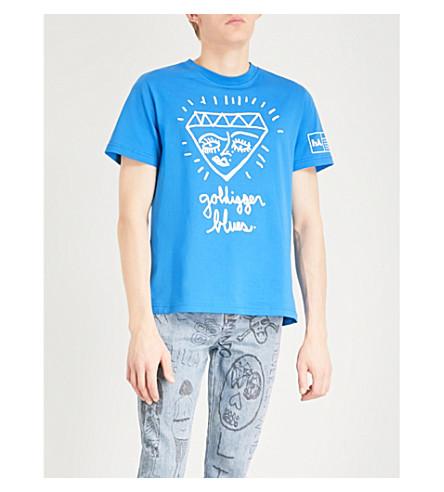 HACULLA Goldigger printed cotton T-shirt (Blue
