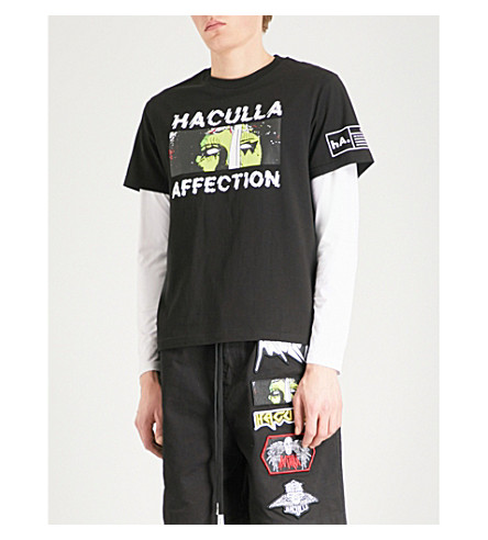 HACULLA Affection printed cotton T-shirt (Black