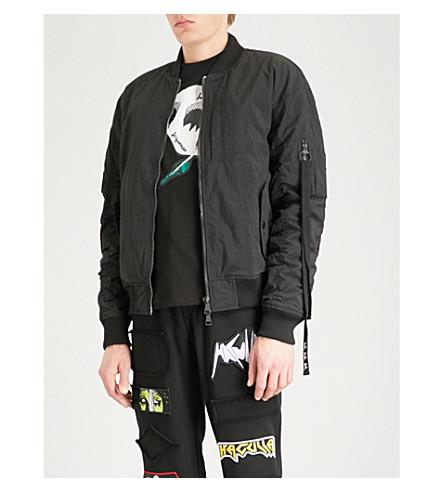 HACULLA Fray For Revo shell bomber jacket (Black