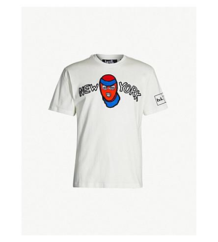 HACULLA Flocked cotton-jersey T-shirt (White