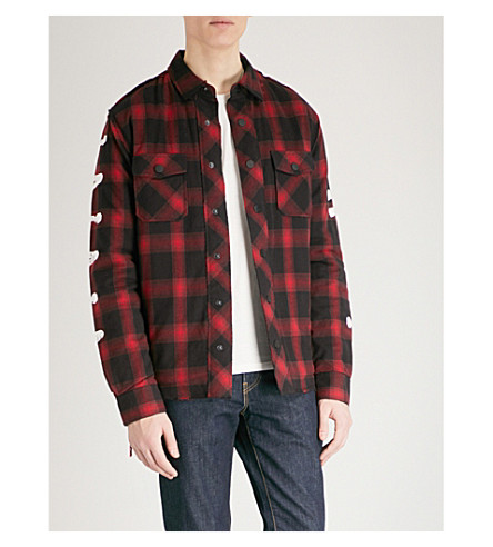 HACULLA Quilted checked cotton shirt jacket (Red+black+plaid