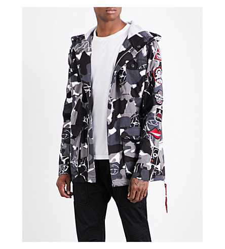 HACULLA Military camouflage-print hooded cotton jacket (Camo