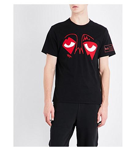 HACULLA Eyez embroidered cotton T-shirt (Black