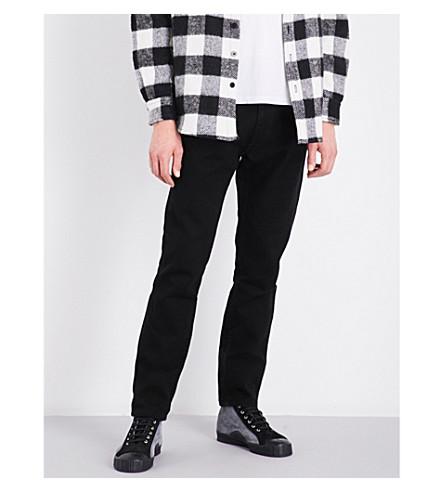 424 Bandana turn-up slim-fit skinny jeans (Black