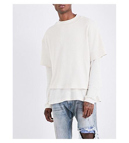 424 Layered knitted sweatshirt (White