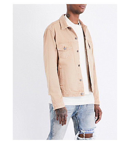 424 Star-print denim jacket (Camel