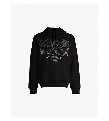 424 Graphic-print cotton-jersey hoody (Black