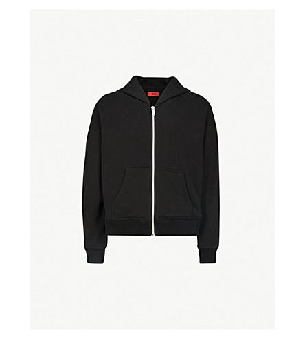 424 Oversized cotton-jersey hoody (Black
