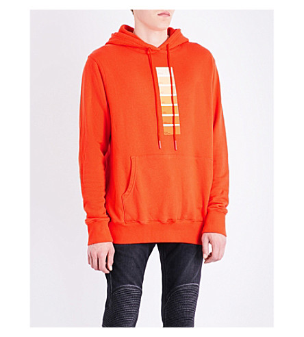 424 Pantone cotton-jersey hoody (Orange