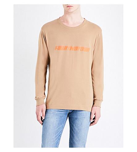 424 Logo-print cotton-jersey top (Camel