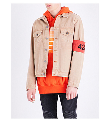 424 Relaxed-fit denim jacket (Camel