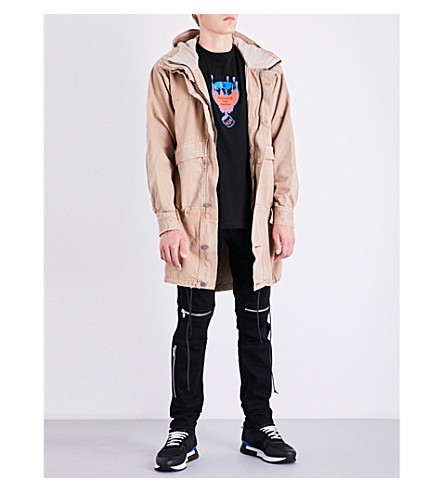 424 Relaxed-fit denim parka jacket (Camel