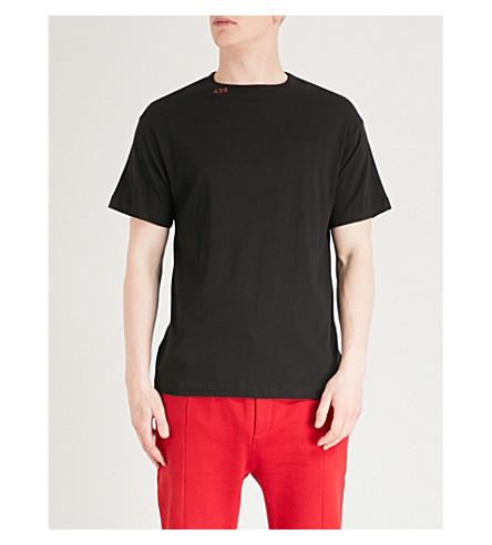 424 Logo-print cotton-jersey T-shirt (Black+red