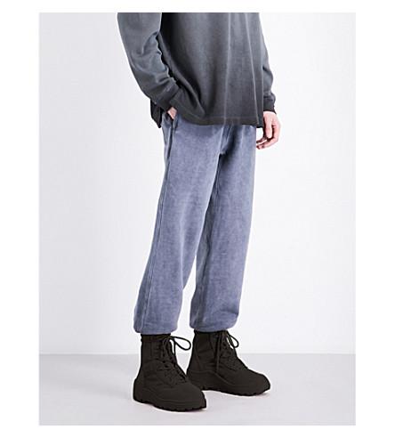 YEEZY Season 4 Dropped-crotch high-waist cotton-jersey jogging bottoms (Bat