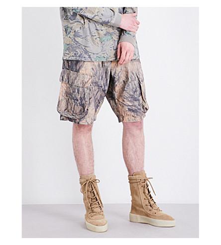 YEEZY Season 4 Forest-print cotton-jersey shorts (Cpn27
