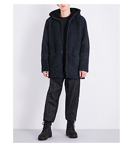 YEEZY Season 4 Hooded shearling and suede jacket (Bat