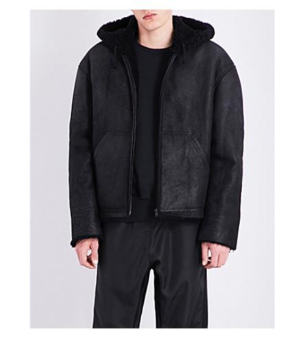 YEEZY Season 4 Shearling-lined suede jacket (Bat