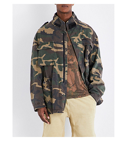 YEEZY Season 4 camouflage stretch-cotton jacket (Cpn38