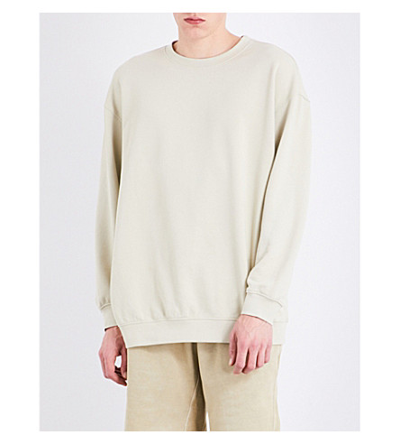 YEEZY Season 4 Oversized cotton-jersey sweatshirt (Toad