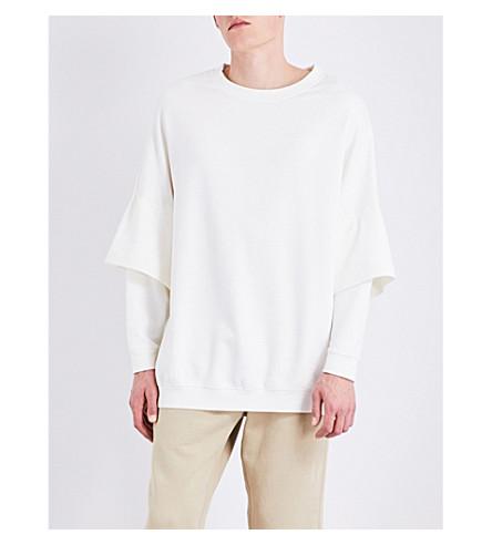 YEEZY Season 4 Double sleeve cotton-jersey sweatshirt (Bleach