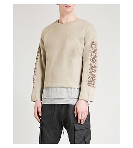 MAGIC STICK Inside Out cotton-jersey sweatshirt (Safari